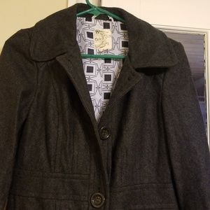 Anthropologie Tulle trench coat womens size S